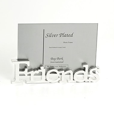 Bey-Berk Silver Plated  Friends Frame, 4in. x 6in.