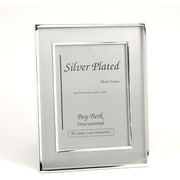 "Bey-Berk Silver Plated  Brushed Picture Frame, 8"" x 10"""