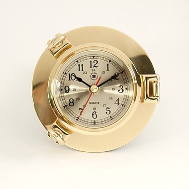 Bey-Berk Brass Porthole Clock