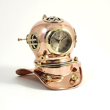 Bey-Berk Copper/Brass Diver's Helmet Clock