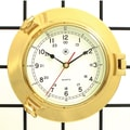 Bey-Berk SQ513 Brass Porthole Clock
