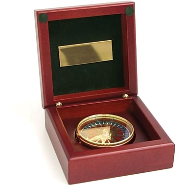 Bey-Berk Wood Box  Compass