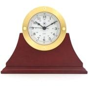 Bey-Berk Gold Tone  Mahogany Base Metal Clock