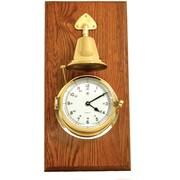 Bey-Berk Brass/Oak Striking  Clock With Bell