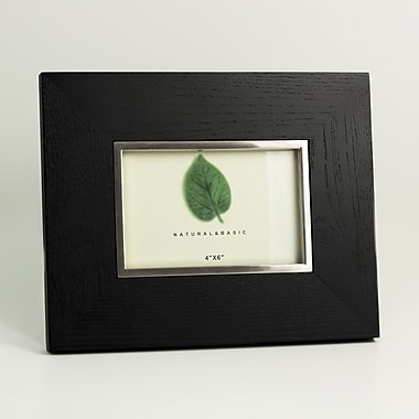 Bey-Berk Silver/Black Wood  Frame, 4in. x 6in.