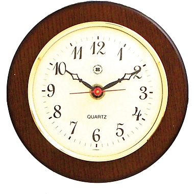 Bey-Berk WS071 Wood Analog Porthole Wall Clock, Brown