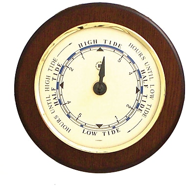 Bey-Berk Brass/Cherry Wood Tide Clock