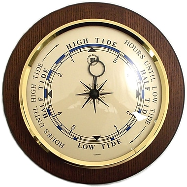 Bey-Berk WS077 Brass/Cherry Wood Tide Clock