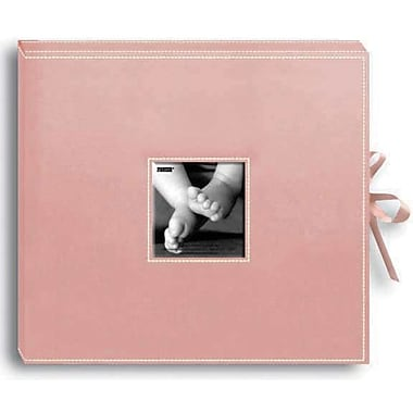 Pioneer Sewn Leatherette D-Ring Scrapbook Box 13in. x 14.5in.-Baby Pink