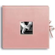 Pioneer Sewn Leatherette D-Ring Scrapbook Box 13 x 14.5-Baby Pink