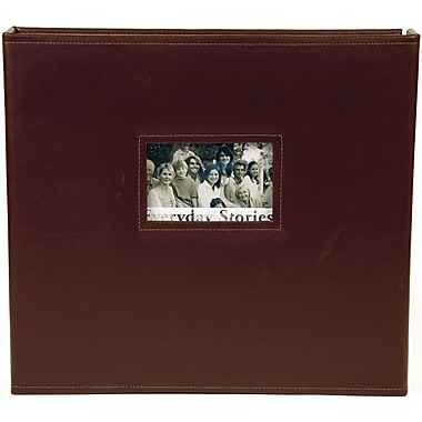 Xyron Everyday Stories Leather Album 12in. x 12in.-Brown