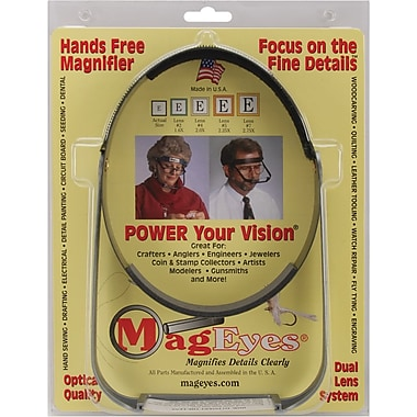 MagEyes Magnifier, Full Circle/Double Hi, Black