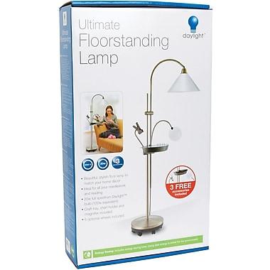 Daylight Ultimate Floorstanding Lamp Antique Brass Staples 174