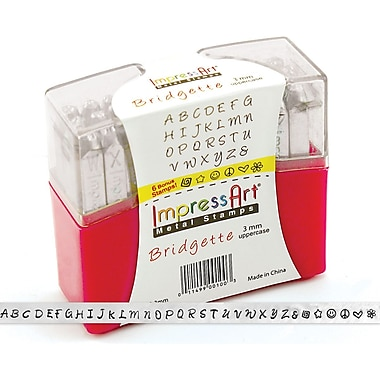 ImpressArt Uppercase Stamp Set, 3mm, Bridgette