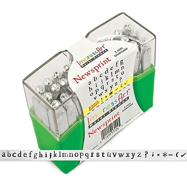 ImpressArt Lowercase Stamp Set, 3mm, Newsprint