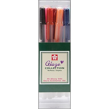 Sakura Gelly Roll Glaze Pens, 16/Pkg