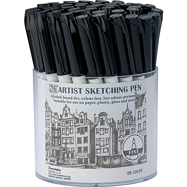 Zig Artist Sketching Pen Display-Black