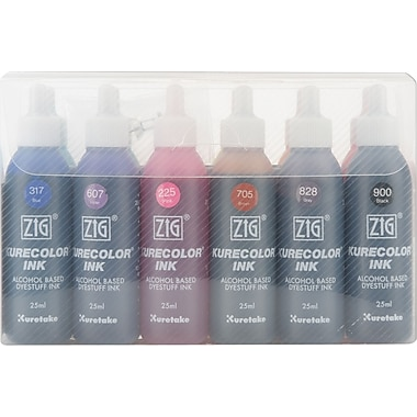 Zig Kurecolor Marker Refill Ink 25ml Bottles Set