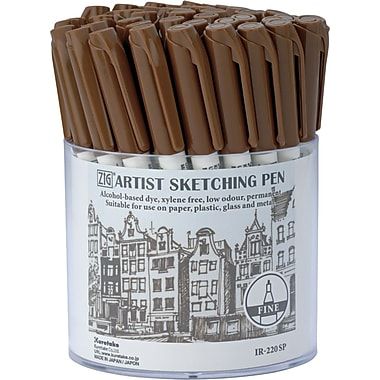 Zig Artist Sketching Pen Display-Sepia