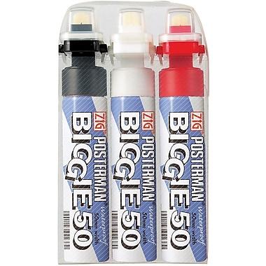 Zig Posterman Biggie 50mm Tip Markers 3/Pkg