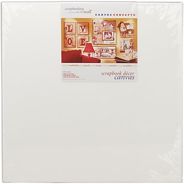 Canvas Concepts Fancy Back Decor Canvas-White 24in. x 24in. 2/Pkg
