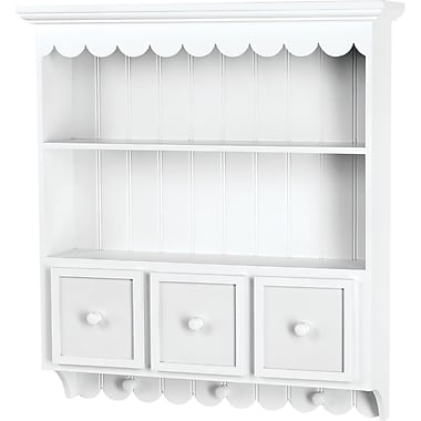 Doodlebug Fashion Furnishings Collectable Cupboard 21.5in. x 24in. x 5.25in.-White