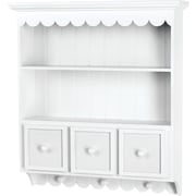 Doodlebug Fashion Furnishings Collectable Cupboard 21.5 x 24 x 5.25-White