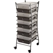 "Blue Hills Studio X-Frame Storage Cart W/10 Drawers 13"" x 38"" x 15.5""-Clear/Smoke"