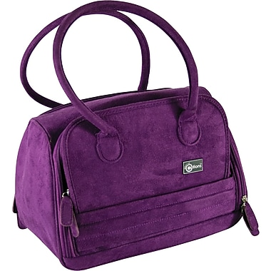 Creative Options Total Tote Medium 12.75in. x 8in. x 9.125in.-Vineyard Purple Faux Suede