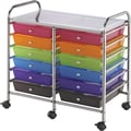 Multi-Color Double Storage Cart