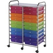 Blue Hills Studio Multi-Color Double Storage Cart, W/20 Drawers