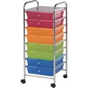 """Blue Hills Studio Storage Cart U8 Drawers 16.5"""" x 39.5"""" x 14.5""""-Multi"""