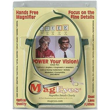 MagEyes Magnifier, Lenses #2 (1.6X) & #4 (2X) - Dark Green