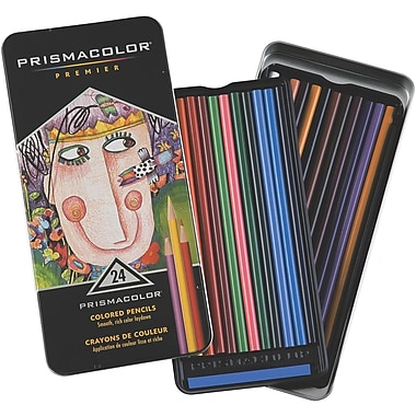 Sanford Prismacolor Premier Colored Pencil Set, 24/tin