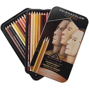Prismacolor Premier Colored Pencil Portrait Set, 24/Pack (25085R)