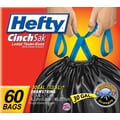 Hefty CinchSak Drawstring Trash Bags, 30 gal., 60 Bags/Box