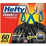 Hefty® CinchSak Drawstring Trash Bags, Black, 30 Gallon,