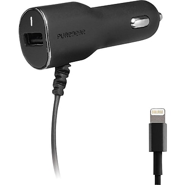 Lightning Car Charger with USB Port