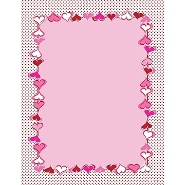 Heart Dots Letterhead, 80/Pack