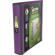 1-1/2 Staples® Better® View Binders with D-Rings, Plum