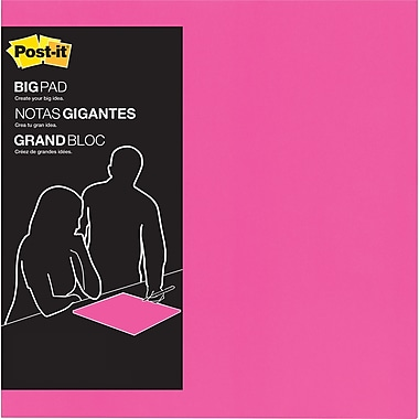 Post-it 15in. x 15in., Big Pad, Fuschia