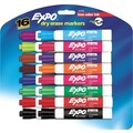 Expo® Low Odor Chisel Tip Dry-Erase Markers, 16/Pack