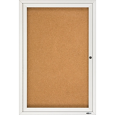Quartet® Enclosed Cork Bulletin Boards, Aluminum Frame