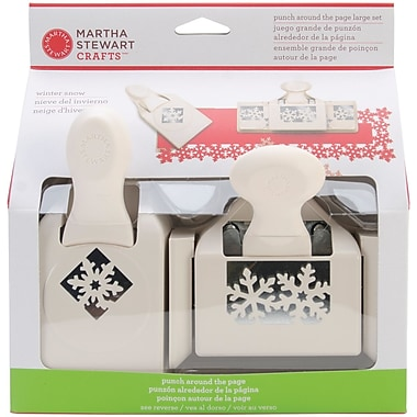 Martha Stewart Punch-Around-The-Page Large Combo, Winter Snow