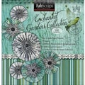 Fabscraps Enchanted Gardens Paper Flowers Die-Cut Pad, 8in. x 8in.