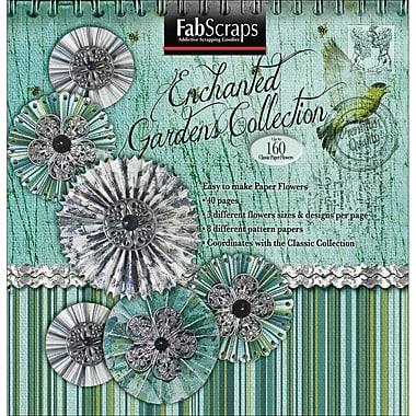 Fabscraps Enchanted Gardens Paper Flowers Die-Cut Pad, 8in. x 8in.