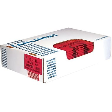 Heritage® Healthcare Printed Can Liners, 20 Gallons, 3.0 mil., Red, 30