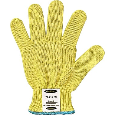 Ansell® GoldKnit® 70-215 Medium Weight Gloves, Yellow, Size 9