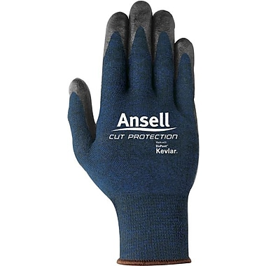 Ansell® 97-505 Cut Protective Gloves, Blue/Black, Small