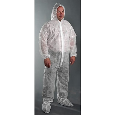 West Chester 3509 Coverall Hood and Boots, White, 2X-Large